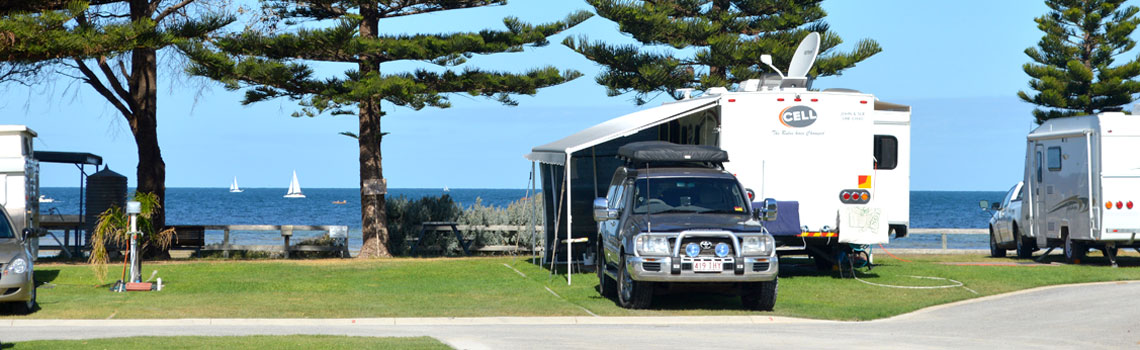 Powered caravan sites Port Vincent